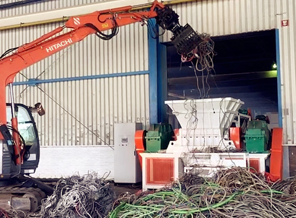 Applications of the cable shredder machine